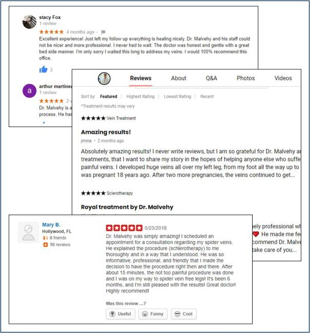 best reviews vein doctor